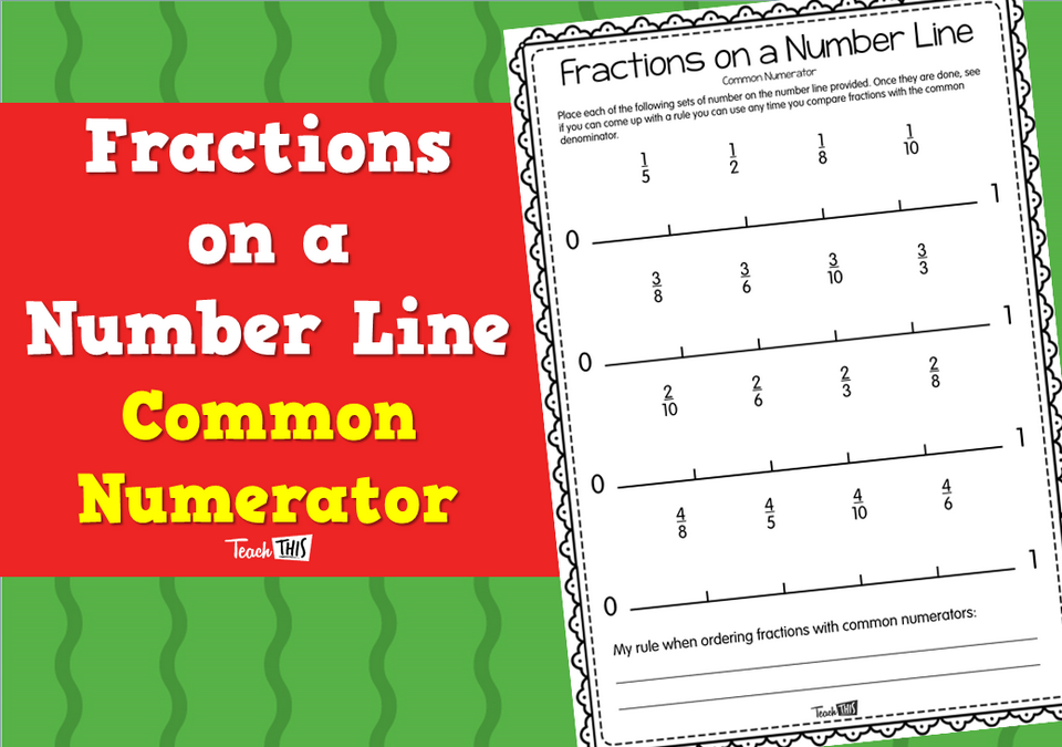 Fractions on a Number Line - Common Numerator