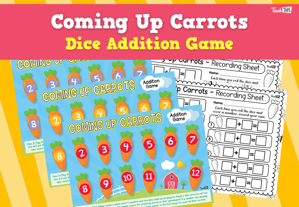 Coming Up Carrots - Addition Dice Game