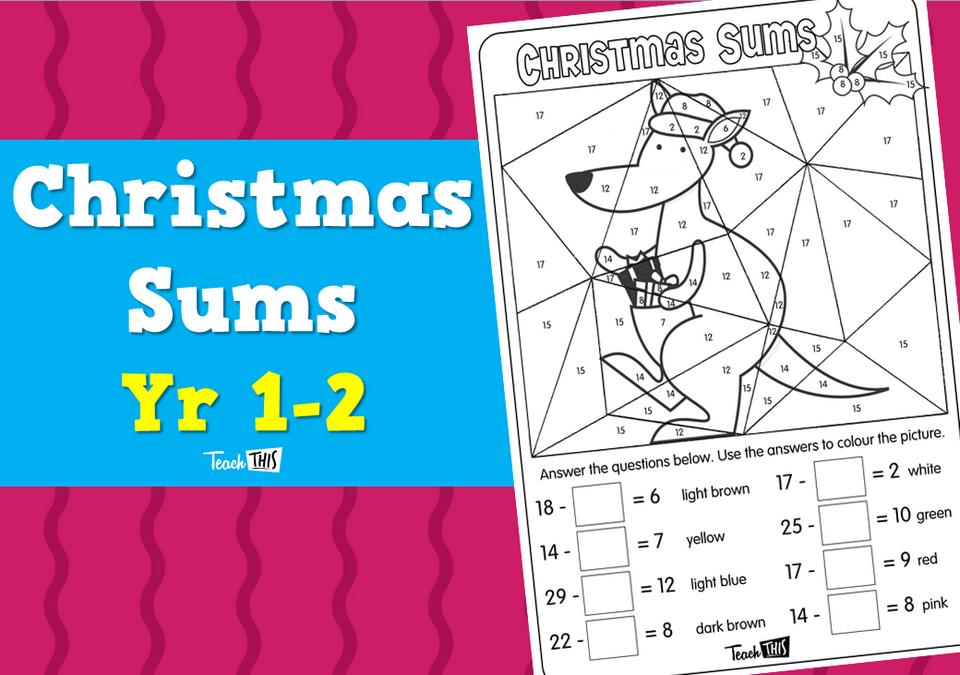 Christmas Sums - Yr 1-2