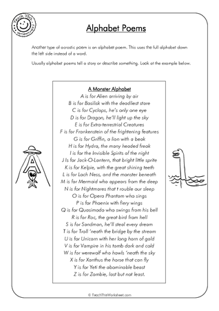 alphabet poems teacher resources and classroom games teach this. Black Bedroom Furniture Sets. Home Design Ideas