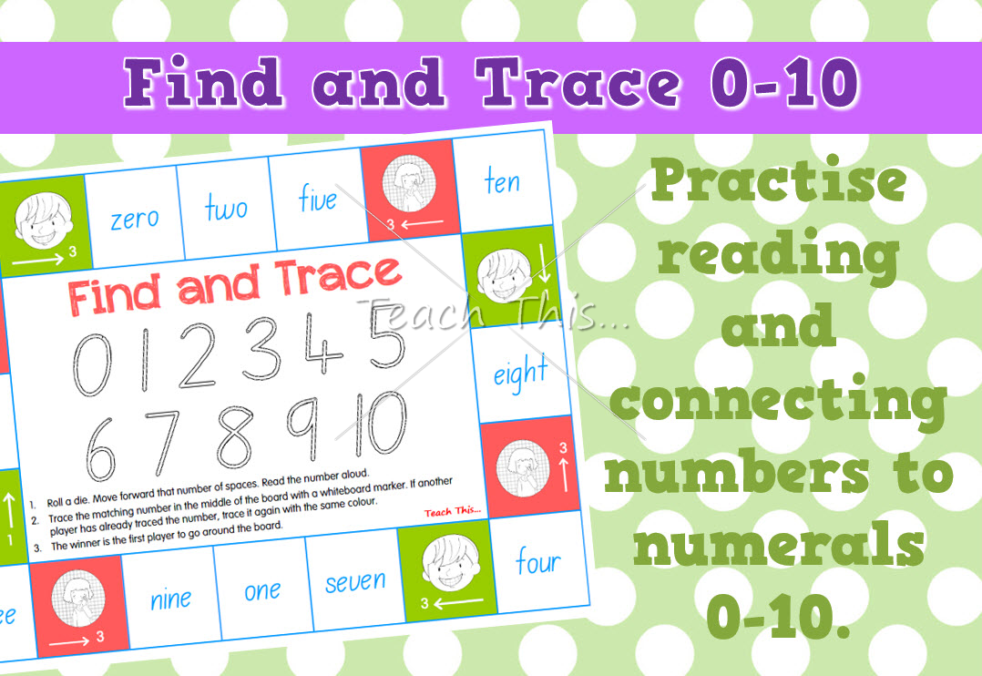 Find and Trace - Numeral and word to 10
