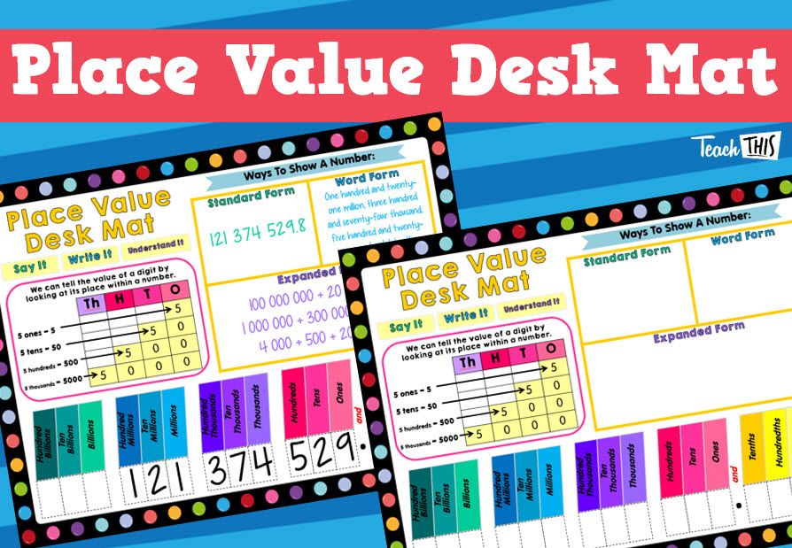 Place Value - Desk Mat