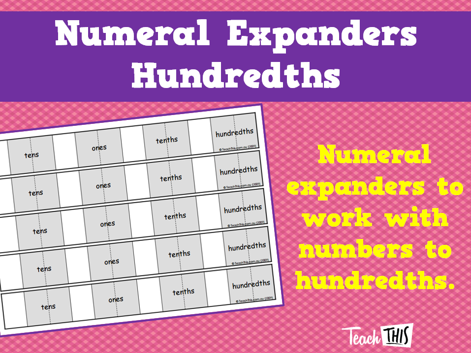 Numeral Expanders Hundredths