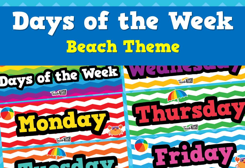 Days of the Week - Beach Theme
