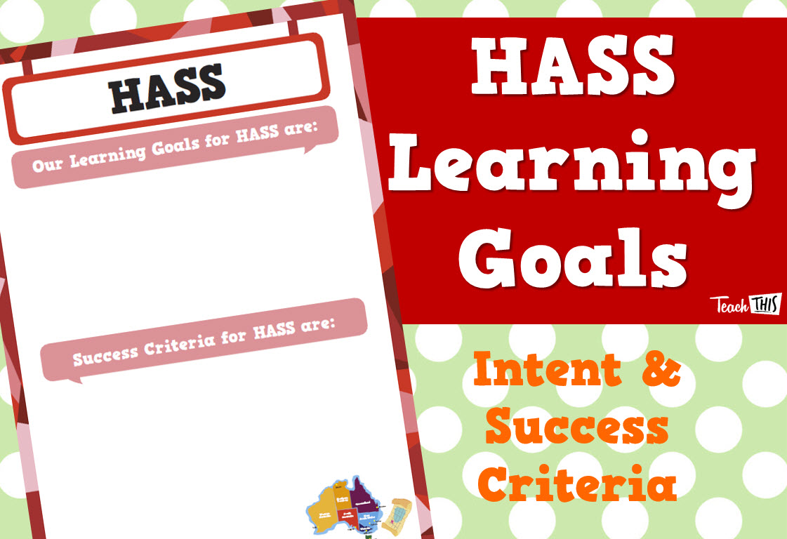 Learning Goals - HASS