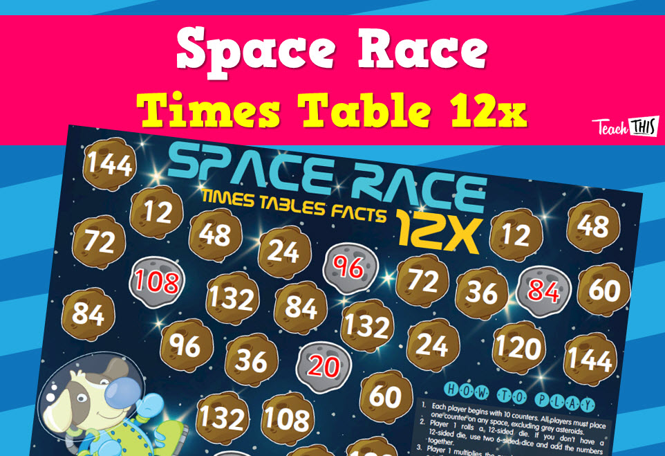 Space Race - 12x Tables