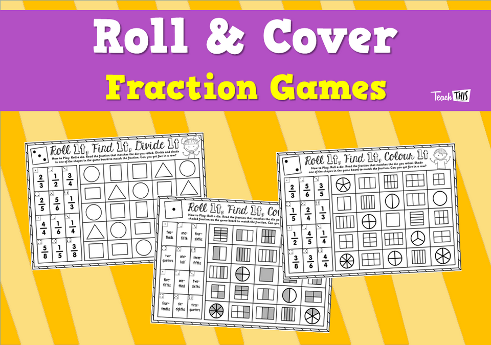 Roll & Cover - Fraction Games
