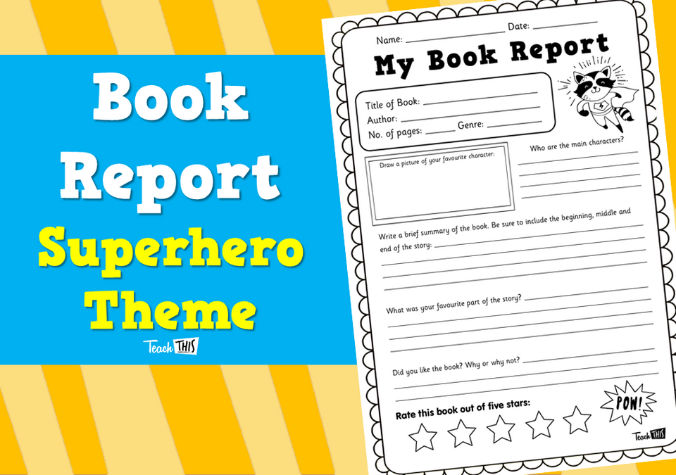 Book Report - Superhero Theme