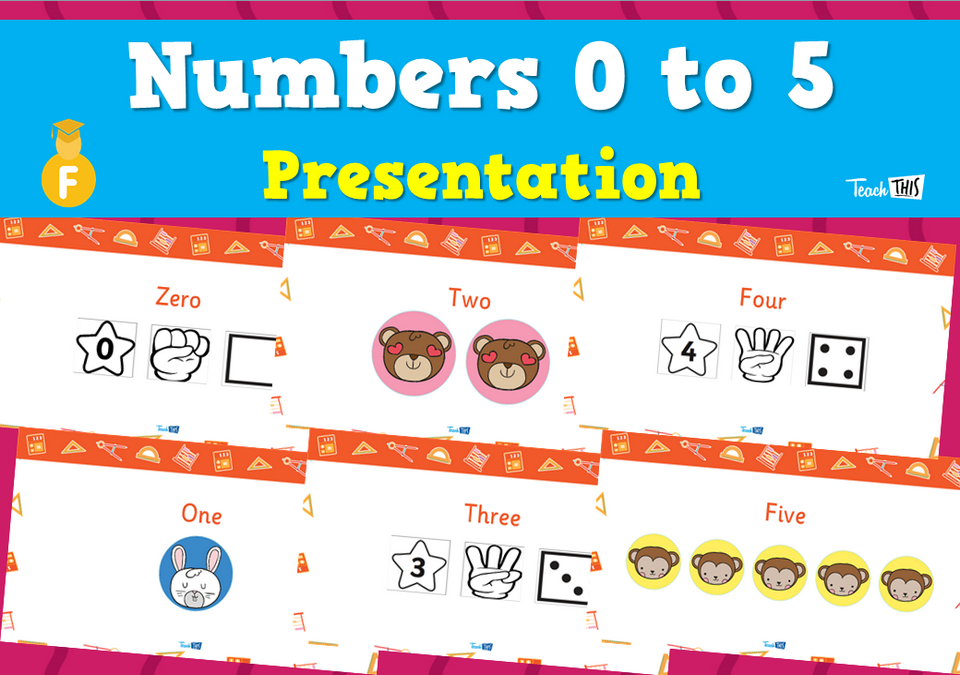 Numbers 0 to 5 - Presentation