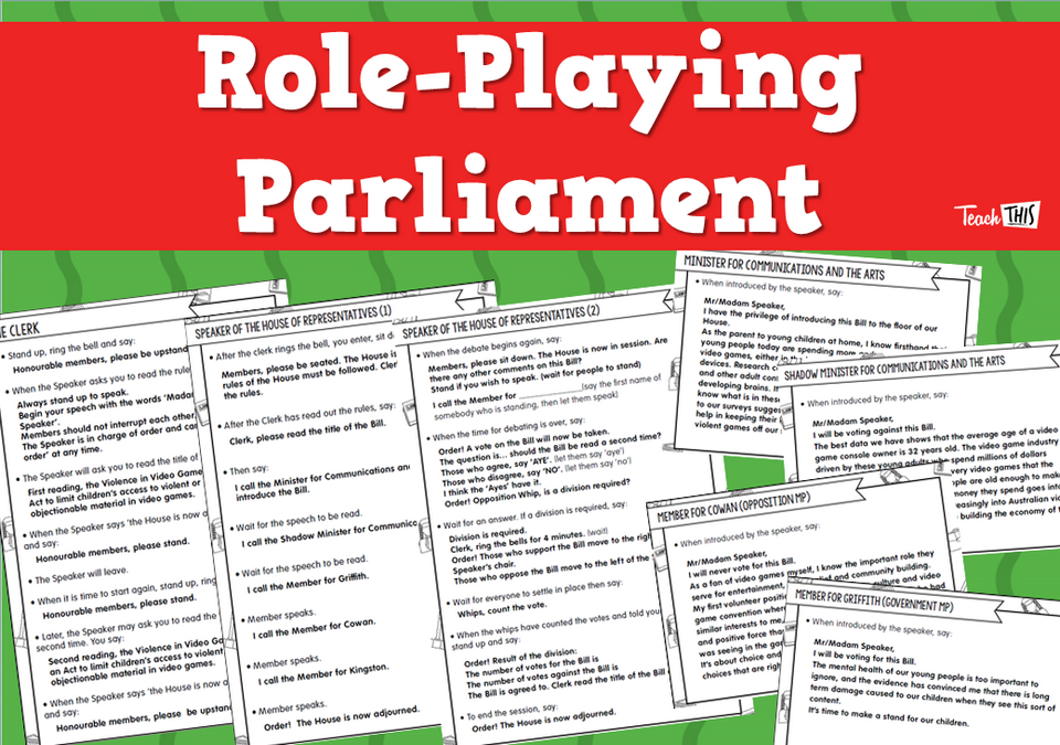 Role-Playing Parliament