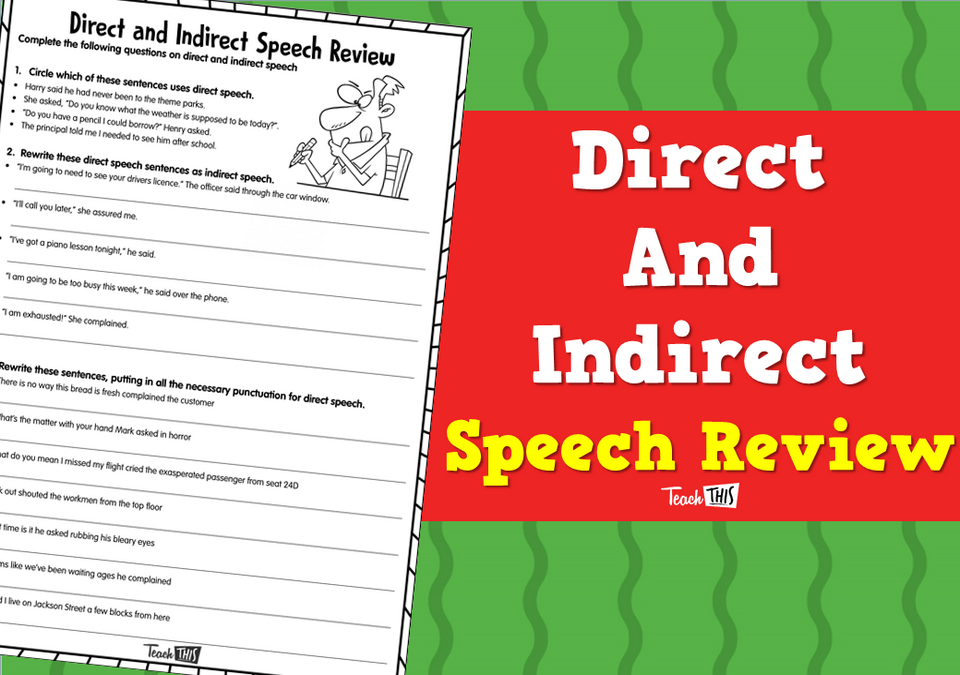 Direct and indirect Speech Review