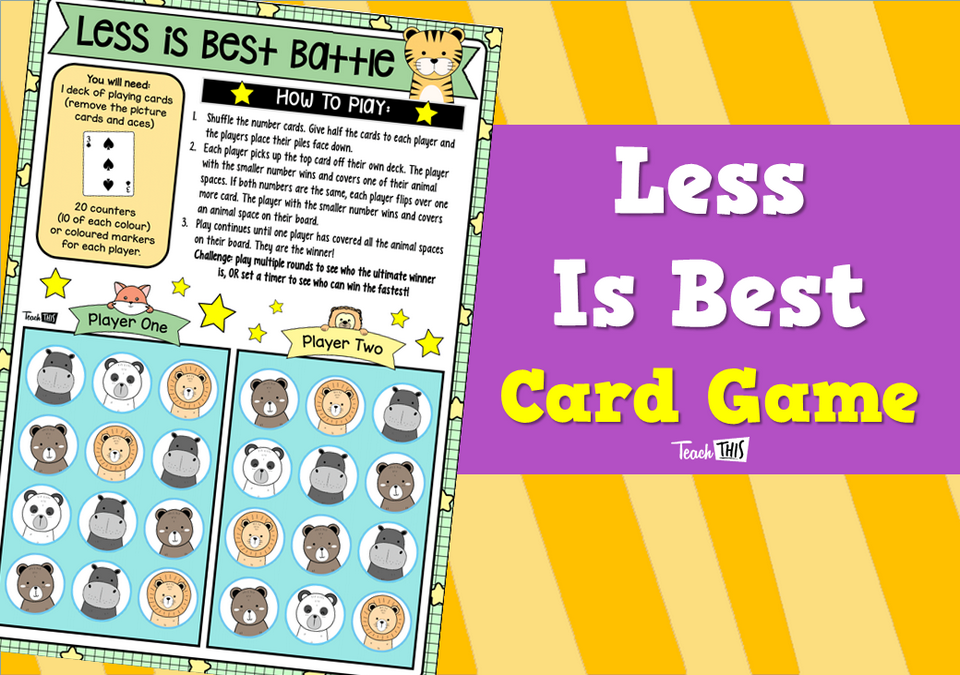 Less Is Best – Card Game