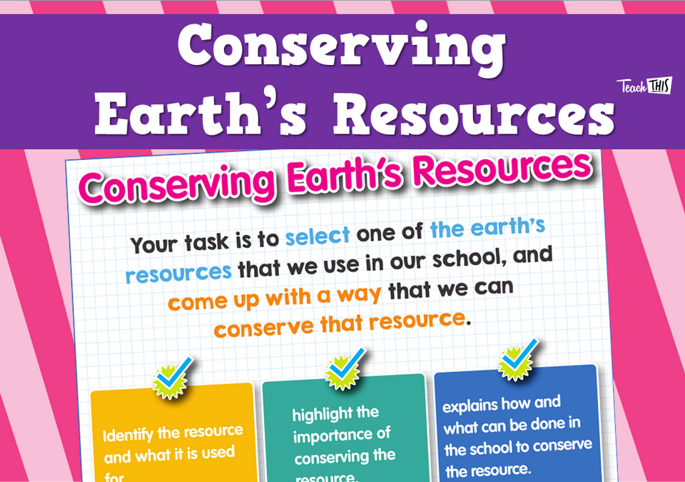 Conserving Earth's Resources