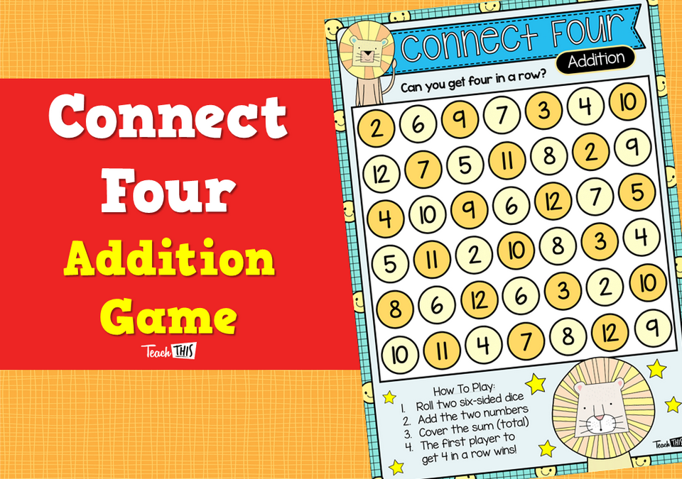 Connect Four – Addition Game