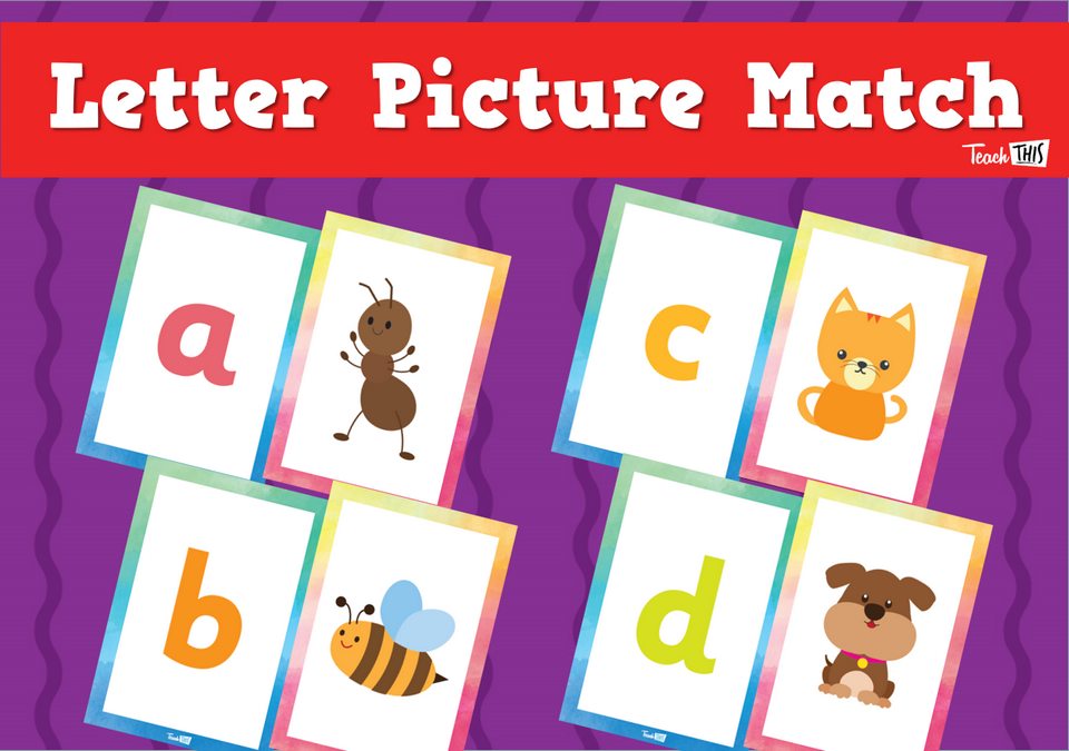 Letter Picture Match Lowercase