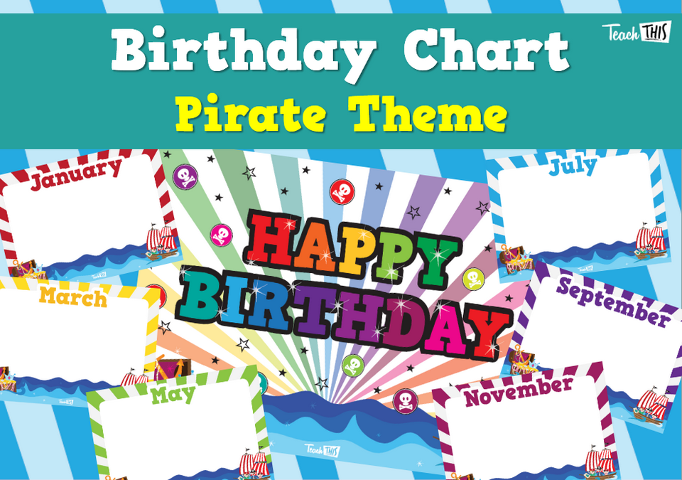 Birthday Chart - Pirate