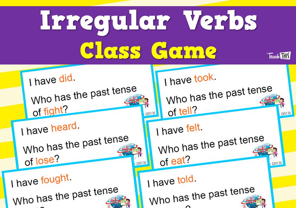 Class Game Irregular Verbs