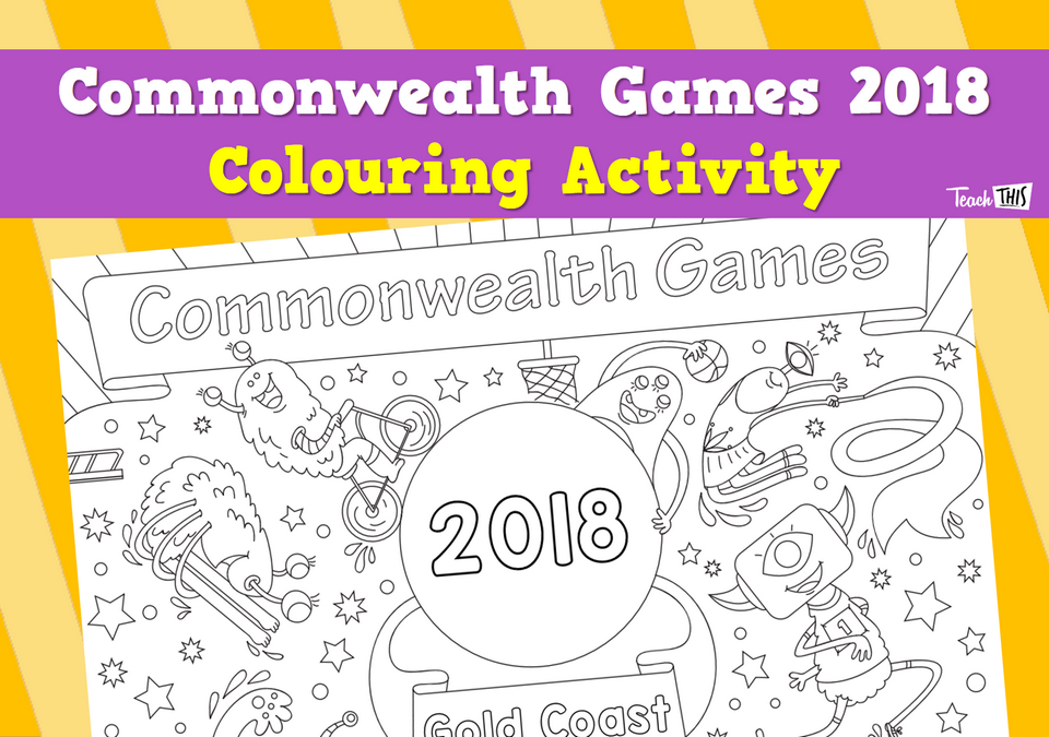 Commonwealth Games 2018 Colouring