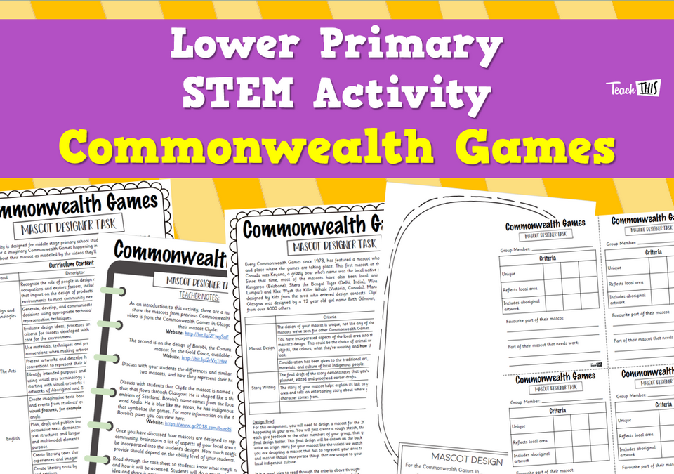 STEM Activity Lower Primary Commonwealth Games