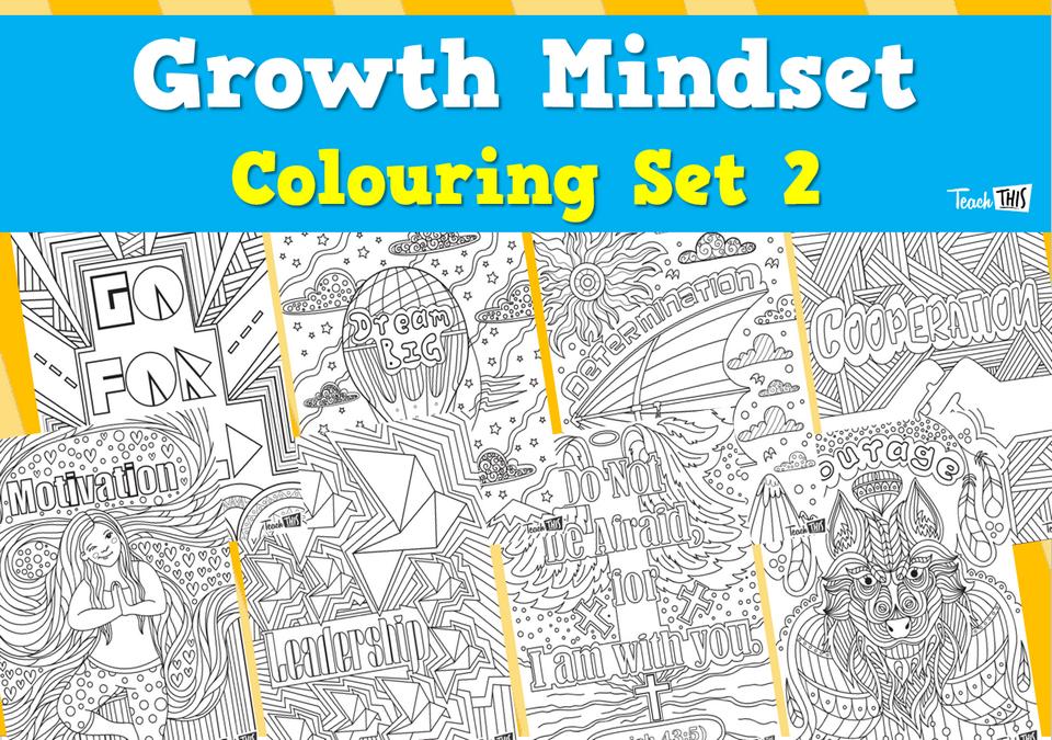 Growth Mindset Colouring - Set 2