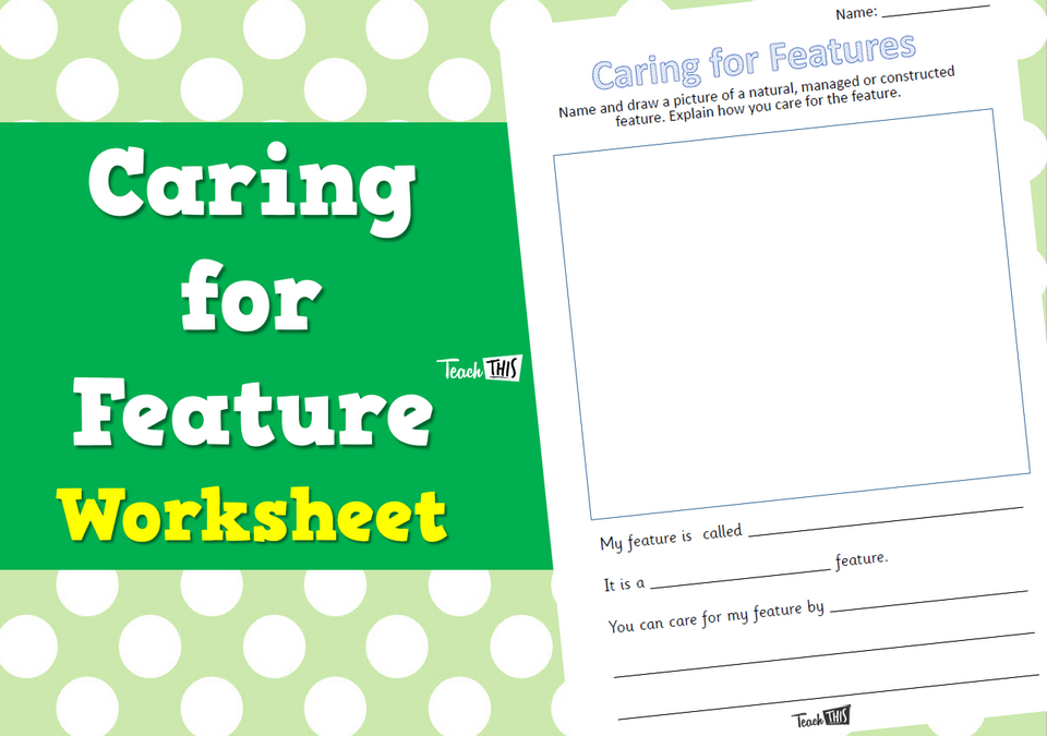 Caring for Features - Worksheet
