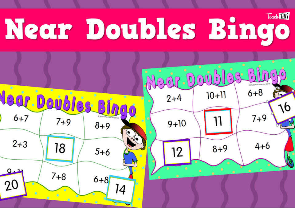 Near Doubles Bingo Teacher Resources And Classroom