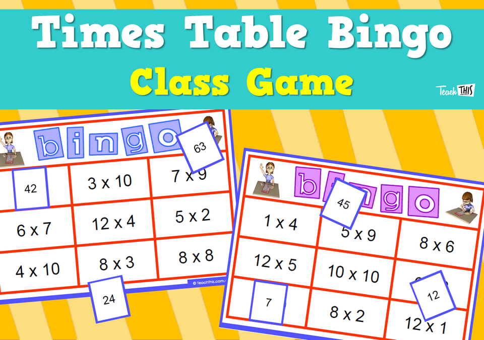 Times Tables Bingo Class Game Teacher Resources And