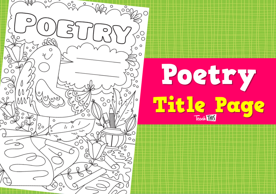 Title Page - Poetry