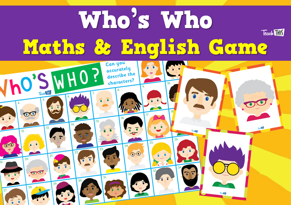 Whos Who Maths & English Game
