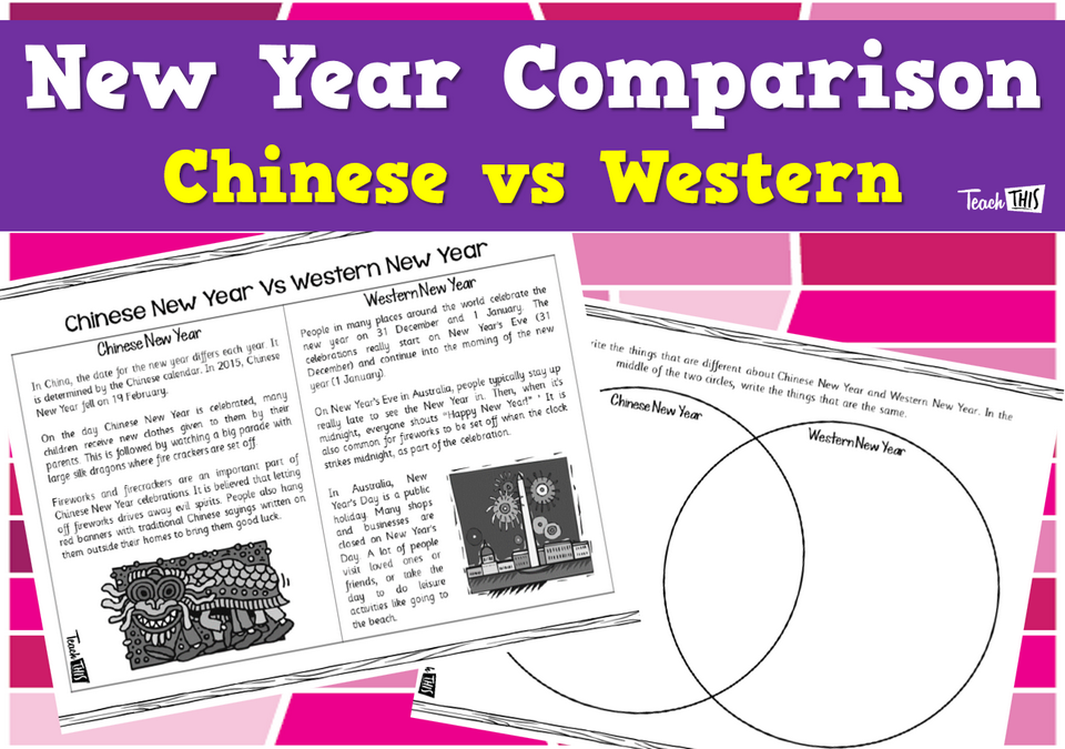 New Year Comparison - Chinese vs Western New Year