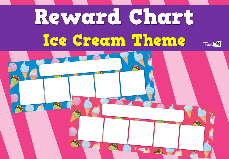 Reward Chart - Ice Cream Theme