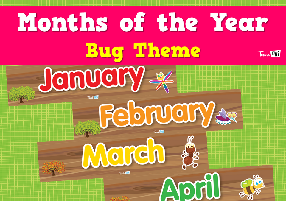 Months of the Year - Bug Theme