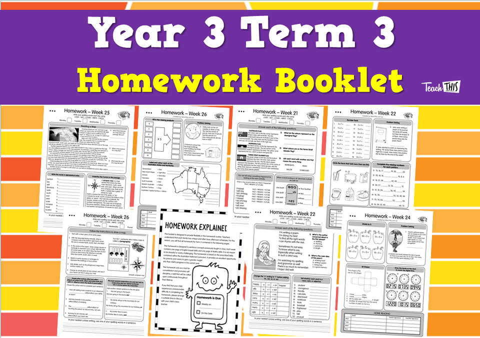 Year 3 Term 3 Homework Booklet