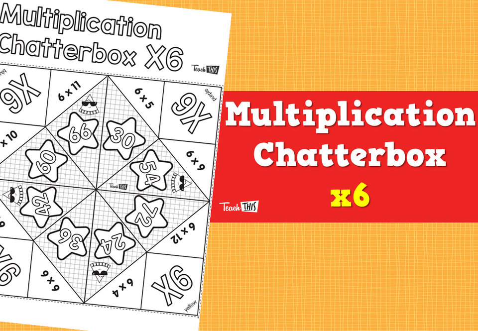 Multiplication Chatterbox 6's