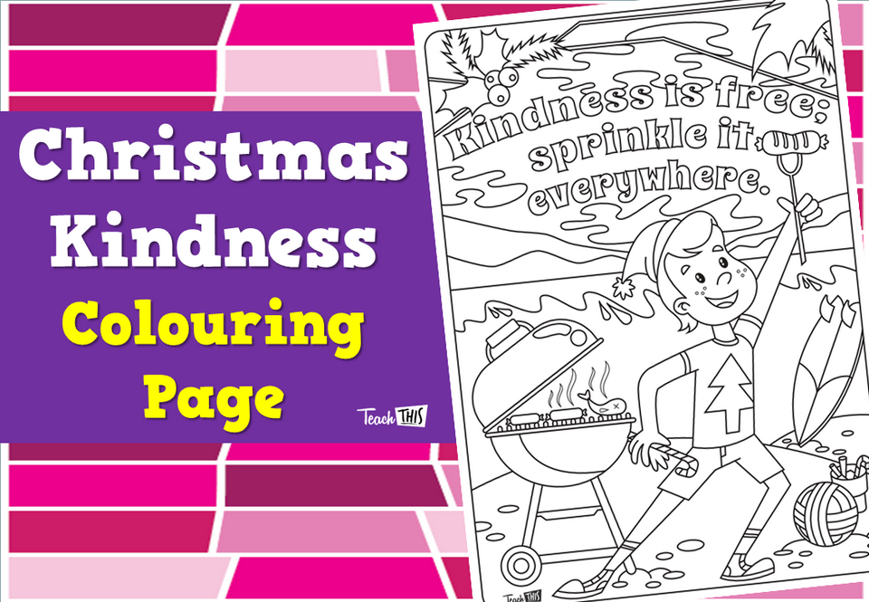 Christmas Kindness - Colouring Page