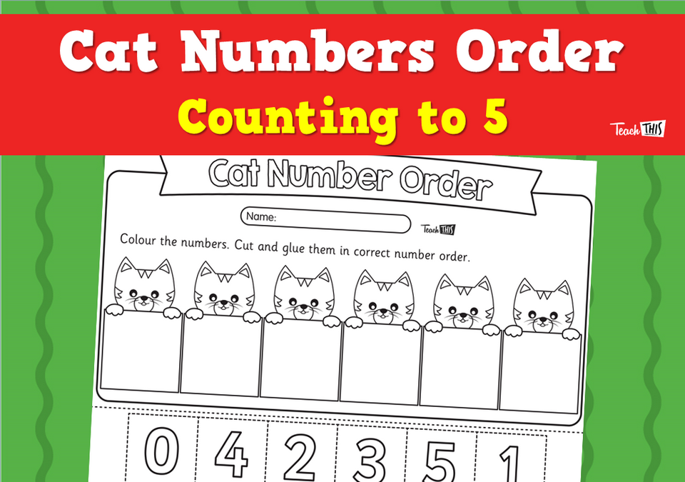 Cat Numbers Order - Counting to 5