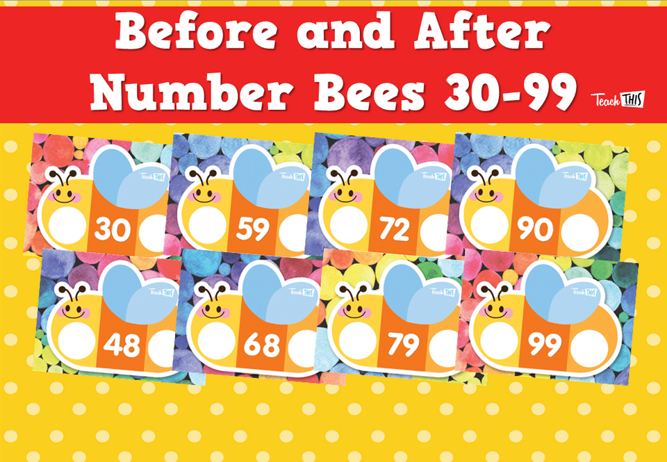 Before and After Number Bees 30-99