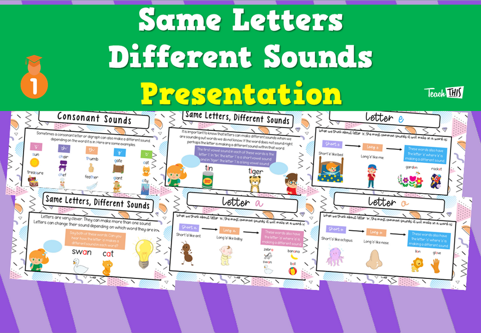 Same Letter Different Sound - Presentation