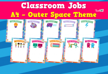 Classroom Jobs A4 - Outer Space Theme