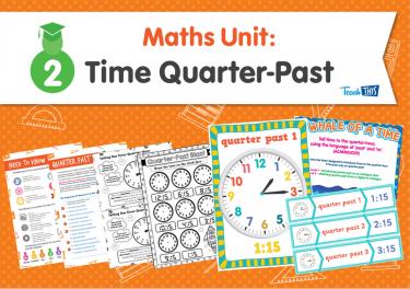 Maths Unit: Time Quarter-Past