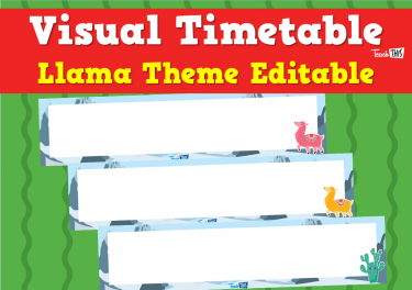 Visual Timetable - Llama Theme Editable