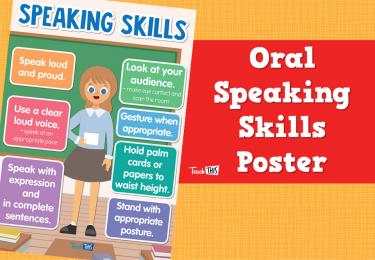 Oral Speaking Skills Poster