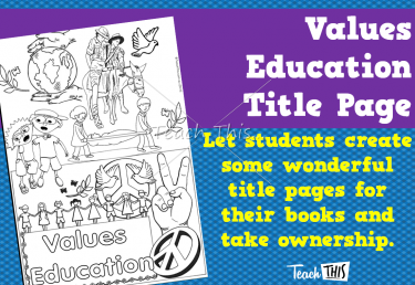 Values Education - Title Page