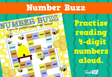 Number Buzz - Reading 4 Digit Numbers