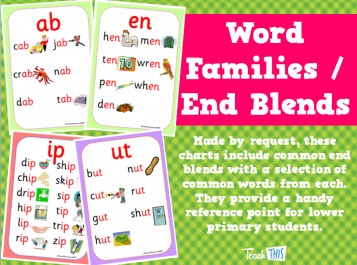 Word Families / End Blends