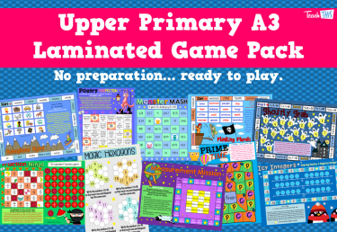 Upper Primary A3 Laminated Games Pack