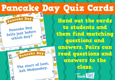 Pancake Day Quiz Cards