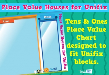 Place Value Houses for Unifix - Tens and Ones