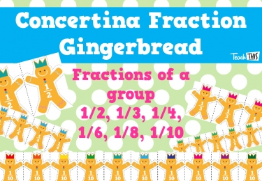Fraction Gingerbread Men - Concertina Folding