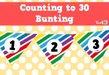 Bunting - White Rainbow - 1-30 - Triangle
